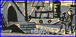 ENRIQUE CLIMENT, Listed Mexico, Modernist Seaport, original mixed media