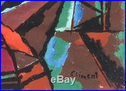 ENRIQUE CLIMENT, Lstd Mexico, Modernist Abstract, original mixed media painting
