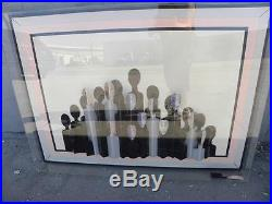 Emile Dekel French Artist Mixed Media 3d Abstract Painting Of A Crowd In Lucite