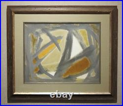 Emlen Etting 1963 mid-century mod Abstract Expressionist painting Philadelphia