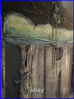 Enrico Embroli Totem Series Original Painting on Canvas Hand Signed MAKE OFFER