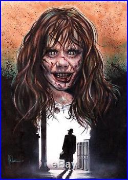 Exorcist Original Art Mixed Media Painting Jim Kyle