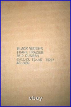 FRANK FRAZIER Mixed Media Collage Original BLACK VISION 4 Women 1984 signed