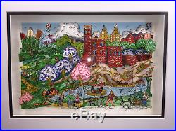 Fazzino Seasonally NYC Suite Summer DX Framed Central Park Belvedere Castle