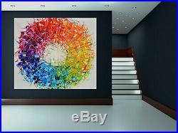 FeNatArt ACRYL Bild Gemälde KUNST 150x130cm Leinwand XXL Malerei NEU 3D