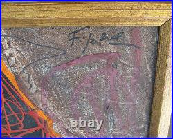 Figueirdo Sobral 1970s Abstract Mixed Media Important Portuguese Modernist