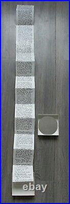 Fluxus Philip Corner, 1983'Piece of Reality for Today' signed 6/80 multiple