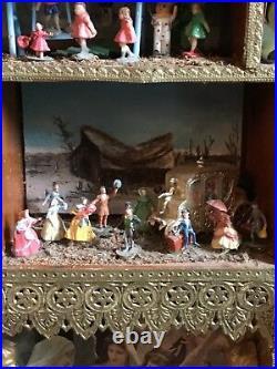 Folk Art Mixed Media Vintage Memory Collage Hanging SHADOWBOX Handmade22 Scenes