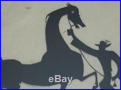 Framed Hand Signed William Hunt Diederich Paper Silhouette