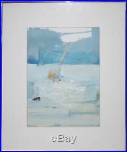 Frances Kornbluth Signed Mixed Media & Collage-Abstract New England Seascape