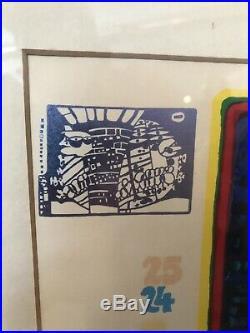Friedensreich Hundertwasser Escape into space signed mixed media Regentag