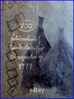 Friedensreich Hundertwasser Olympics Munich 1972 signed mixed media Regentag