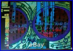 Friedensreich Hundertwasser Regen auf Regentag signed numbered mixed media