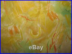 Gabor Peterdi 1968 Abstract Mixed Media WC Hawaii 75 Listed New York Artist