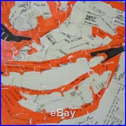Gary Lineker in Used Train Tickets (2018) Ed Chapman Original Mosaic Art 60x72cm