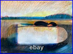 Geoffrey Key Original Painting Northern Artist The Lake 1980