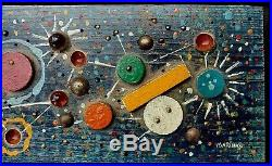 George Marinko Abstract Modernist Atomic MCM Painting Sculpture Wall Art Relief