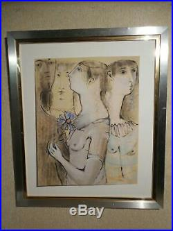 Gertrude Barrer (1921 1992) Original Modernist Mixed Media with Nudes
