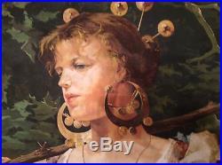 Gorgeous, Francesco Paolo Michetti (1851-1929) Italian Painter Mixed Media on