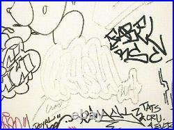 Graffiti Urban Street Art Multi Tag Crash Dash Chinobyi Original M/m Canvas