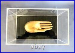 Greg Copeland 3D Art Hand of Buddha in Acrylic Case vintage 70's