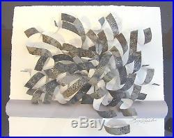 Greg Copeland Hand Signed Original Mid Century Modern Unique Wall Sculpture 90
