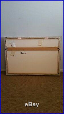 Greg Copeland Signed Original Ribbons Pastel #3106 Paper Sculpture Shadow Box