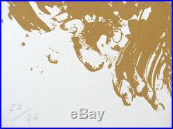 Günther Uecker Ouroboros 12 Terragrafien Auf Leinwand! Nur 36 Exempl