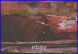 Gwilym John Blockley Original Mixed Media Painting Evening Sky