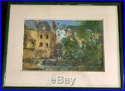 Gwilym Prichard RCA Mill Pont Aven Stunning Original Mixed Media Painting 94