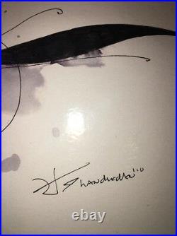Handiedan Original Mixed Media Pen And Watercolor Drawing 8 With COA