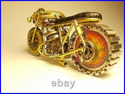 Handmade Motorcycle made with watch parts and other materials. One of a kind