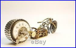 Handmade Motorcycle made with watch parts and other materials. One of a kind. #2