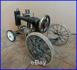 Handmade Steampunk Sewing Machine Locomotive Altered Art Assemblage
