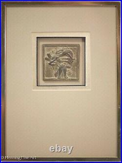Harris Strong Mid Century Modern Ceramic Tile Four Seasons All Framed & Fine