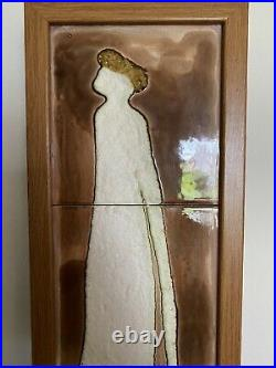 Harris Strong Tall Man 36 Tile Art HS-645 Signed Wall Hanging Mid Century Mod