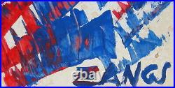 Herbert Zangs Scheibenwischer in rot blau auf Papier