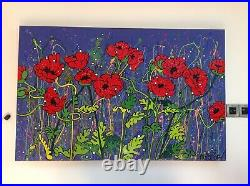 Huge Original Louise Dear Artwork Painting Mixed Media Signed