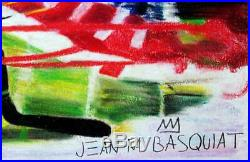 JEAN-MICHEL BASQUIAT Original Mixed Media Technique on Paper Drawing Signed