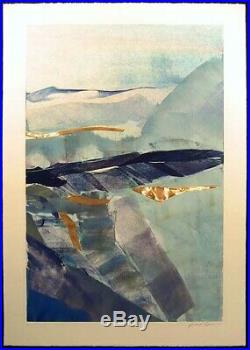 Jack Eggman ORIGINAL ART monotype with copper MIXED MEDIA ARTWORK MAKE OFFER