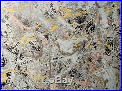 Jackson Pollock Original Signed Mixed Media Painting