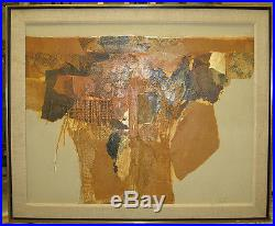 James Grabowski'80s Abstract Mixed Media Collage Listed Connecticut Artist