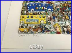 James Rizzi 3-D Artwork Ski Weekend Signed & Numbered Limited Edition 1986