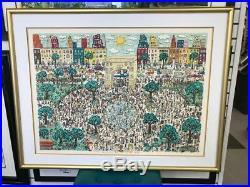 James Rizzi 3-D Artwork Washington Ain't No Square Park Signed & Numbered