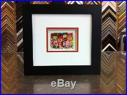 James Rizzi 3-D To Close For Comfort Signed & Numbered 1990 Mini Framed