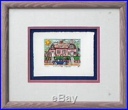James Rizzi Country House 3-D Construction Lithograph