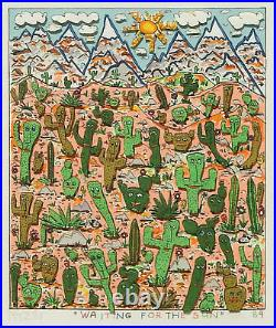 James Rizzi Waiting For The Sun 3-D Construction Lithograph