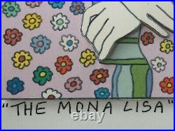 James Rizzi original 3D MONA LISA, handsigniert, Unikat-Rahmung, Museumsglas