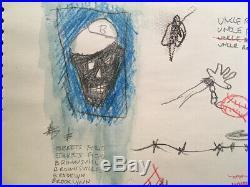 Jean Michel Basquiat Drawing mixed media