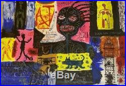 Jean Michel Basquiat. Mixed media on canvas acrylic, oil stick, pencil